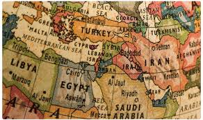 Physical Map Of Middle East by Wayne Owens Chair Tanner Humanities Center The University Of Utah