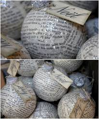 ornaments made from book pages i want to do this for my