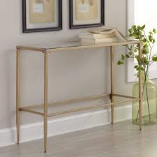 mercury demilune sofa table console table iron and glass console table contemporary oak metal