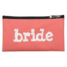 Bride Makeup Bag Bachelorette Party Cosmetic U0026 Makeup Bags Zazzle
