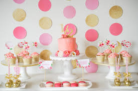 pink and gold cake table decor pink and gold dessert table pinkandgold halfbirthday watercolor