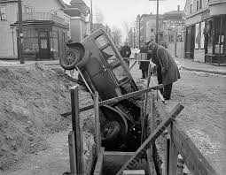 vintage photos of auto accidents in boston 1920s 1950s