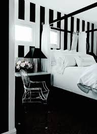 Dark Canopy Bed Curtains Black And White Striped Curtains Design Ideas