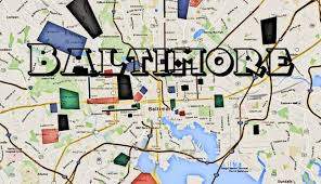 Washington Dc Area Map by Map Of Baltimore Hoods