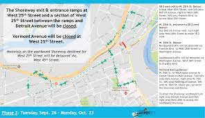 Cleveland Rta Map Lakefront West Third Phase Of West 25th Street To Begin September 26