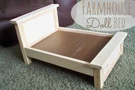 Free Wood Doll Furniture Plans by Diy Farmhouse Doll Bed For American Dolls Adventures Of A