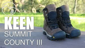 keen summit county 3 winter hiking boots mountain venture youtube