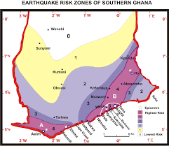 Map Of Ghana Seismic And Tectonic Correspondence Of Major Earthquake Regions In