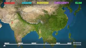 World Religions Map Maps Show How Religion Has Spread Throughout The World Business