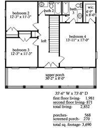 plantation home floor plans narrow lot plantation home plan 9740al architectural designs