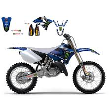sinisalo motocross gear υζ 125 250 2002 14 replica team yamaha monster energy graphic kit