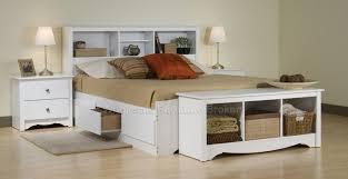 sonoma white queen platform storage bedroom set at gowfb ca