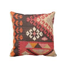 Outdoor Rug Square by Turkish Rug Print Throw Pillow Boho Ethnic Geometric Carpet