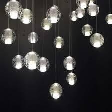 Ball Chandelier Lights G9 Home Bar Decor Clear Glass Bubble Ball Chandelier Light Led