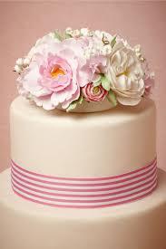 wedding cake topper pastel flowers