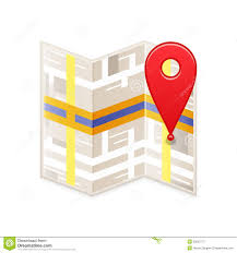 Goo Map Map With Pin Stock Vector Illustration Of Street Point 33623772