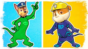 paw patrol as tom and jerry pj masks fun coloring videos for