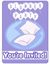 slumber party free printable party invitations templates