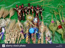 palm sunday palms for sale palm sunday and easter decorations for sale on a sidewalk in mexico