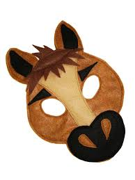 children u0027s horse farm animal felt mask