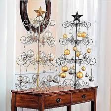 metal scroll 36 ornament display tree in black gold