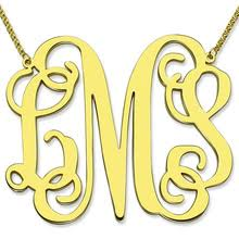 2 inch monogram necklace popular large initial necklace buy cheap large initial necklace