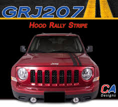 silver jeep patriot 2007 2007 2015 jeep patriot hood rally vinyl stripe kit moproauto
