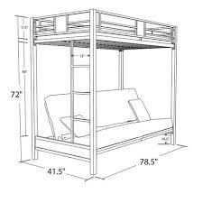 dorel dhp silver screen twin over futon metal bunk bed silver