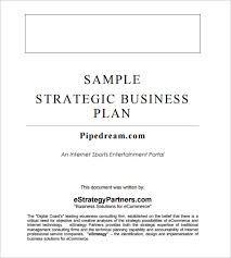 strategic business plan template templates radiodigital co