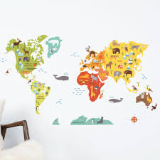Kids World Map 31 World Map Wall Decals Black World Map Wall Decal Wall Decals
