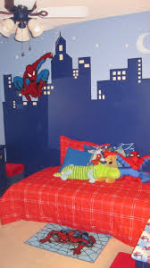 spiderman room cityscape painting