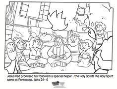 tongues fire coloring pages holy spirit pentecost coloring