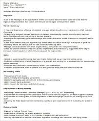 Assistant Marketing Manager Resume Sample Marketing Manager Resumes Lukex Co