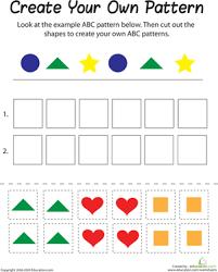 pattern worksheets 2nd grade worksheets