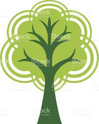 symmetrical retro tree stock vector 472331997 istock