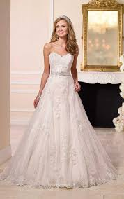 wedding dress in uk strapless sweetheart lace princess a line wedding dress with sash