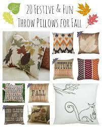 20 festive fall throw pillows babble