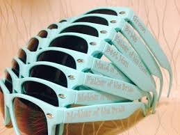 personalized sunglasses wedding favors set of 10 teal personalized sunglasses for by greenbridalboutique