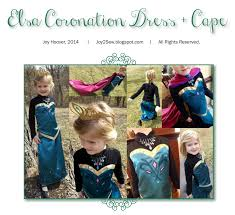 elsa frozen coronation dress and cape pdf pattern