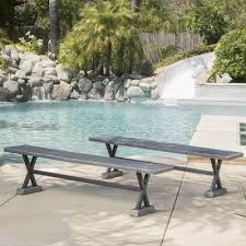 home loft concepts besni outdoor magnesium oxide picnic bench