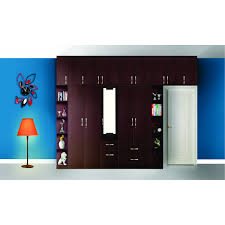 modular wardrobe furniture india 4 door modular wardrobe one dressor and open unit damro