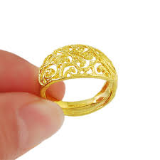 simple rings gold images Andara brand simple design rings adjustable hollow pattern finger jpg