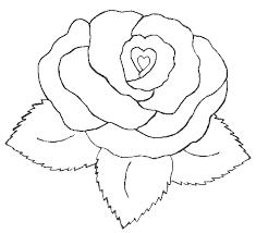 coloring pages of a heart coloring pages flowers hearts heart with flower coloring pages