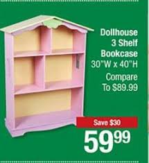 Doll House Bookcase Big Lots 3 Day Sale Starts Today 59 99 For Dollhouse Bookshelf