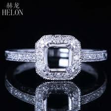 helon 6mm round semi mount engagement diamonds ring solid 14k