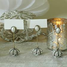 wedding place card holder with diamante and pearl trim ido