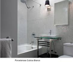 Bathroom Mosaic Tiles Ideas by Porcelanosa Cubica Blanco Wall Tile With White Bath Tub Bathroom