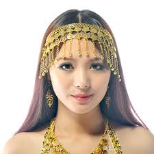 gold headpiece 2017 belly costume tribal jewelry gold silver