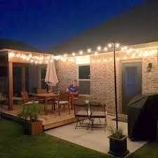 Patio Light Strands Globe String Lights 2 In Bulbs 50ft Black Wire Outdoor Clear