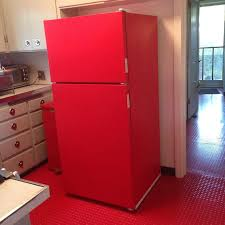 red refrigerator this diy project will save you 100 u0027s